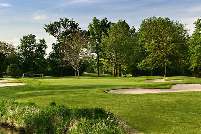 A view of a hole at Belmont Country Club
