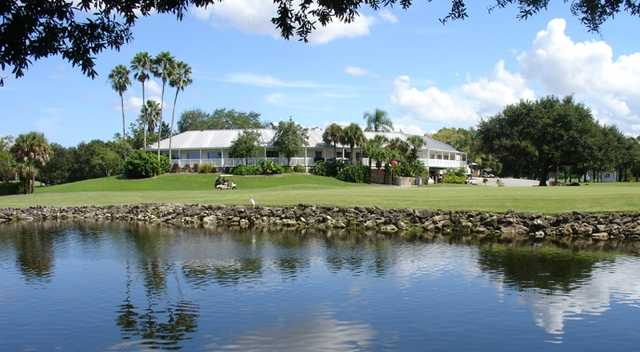 A view of hole #18 at Coral Oaks Golf Course