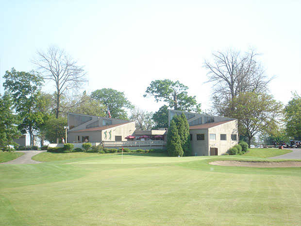 A view of a green at Detwiler Park Golf Course