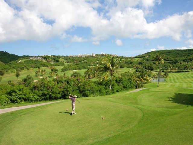 A view of  tee #18 at El Conquistador Resort & Waldorf Astoria Spa