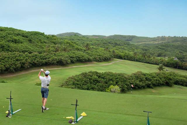 A view of the driving range at El Conquistador Resort & Waldorf Astoria Spa