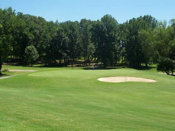 A view of the 9th hole from the fairway at Wedgewood Golf Course