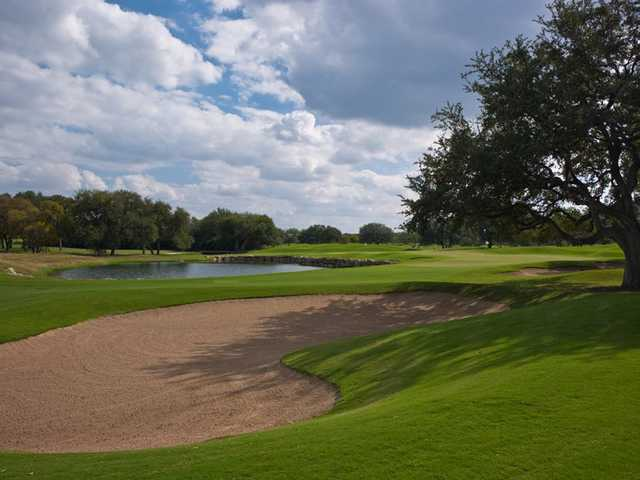 A view of hole #9 at Oaks Course from Hill Country Golf Club