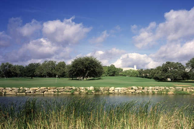 A view over the water from Hill Country Golf Club