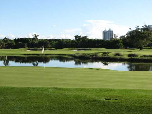 A view of the 14th green at Miami Beach Golf Club