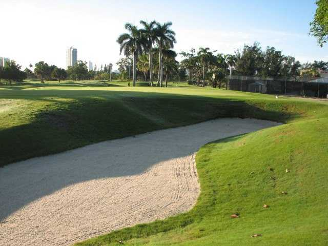 A view of hole #9 at Miami Beach Golf Club