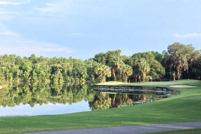 A view of a hole at Tampa Palms Golf & Country Club