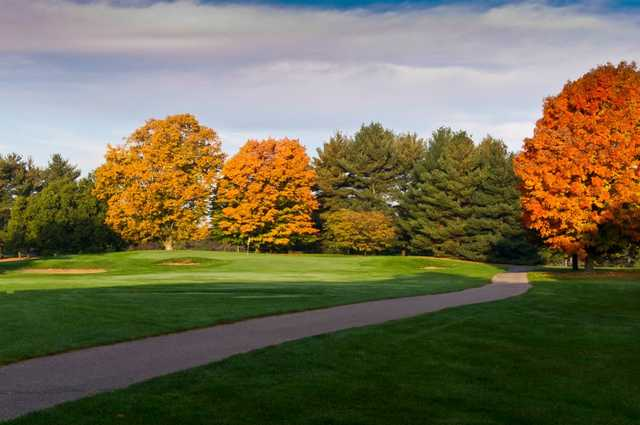 A view of the 8th hole from The East at Forest Akers Golf Course