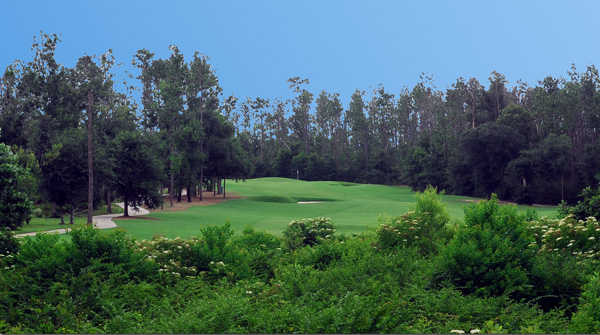 A view of the 2nd hole at The Oaks Golf Club