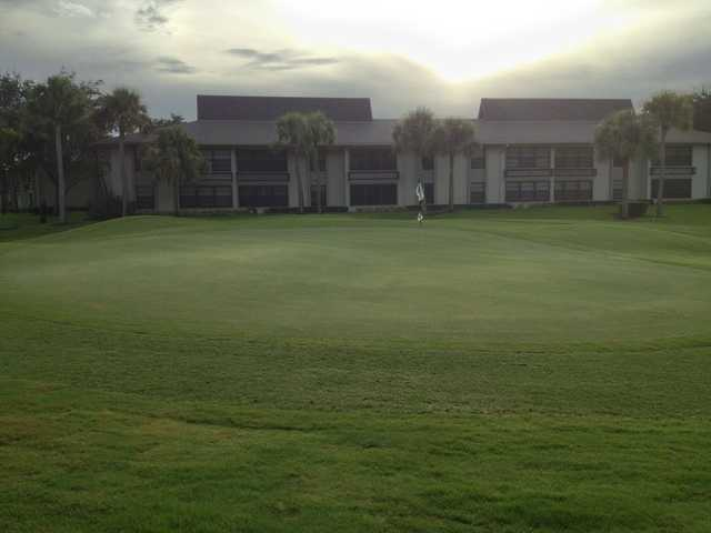 A view of a hole at Vista Plantation Golf Course