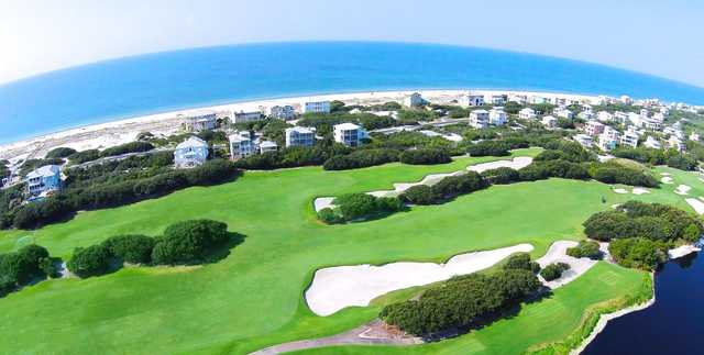 Aerial view from the Kiva Dunes Golf Course