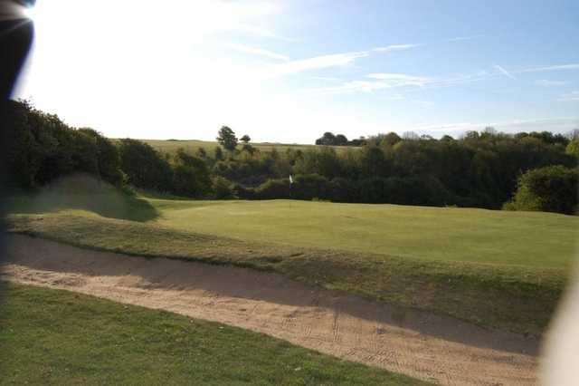 A tremendous bunker to test your short game skills at Hollingbury Park GC