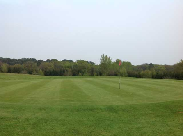 The well kept greens at Hoebridge Golf Centre