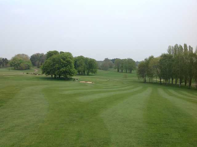 Looking down the fairway at Hoebridge Golf Centre