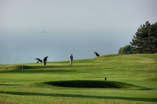 Clifftop views at Walmer & Kingsdown Golf Club