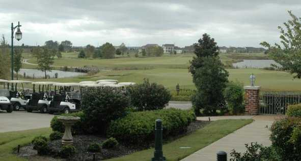 A view from Tunica National Golf and Tennis with golf carts on the left side