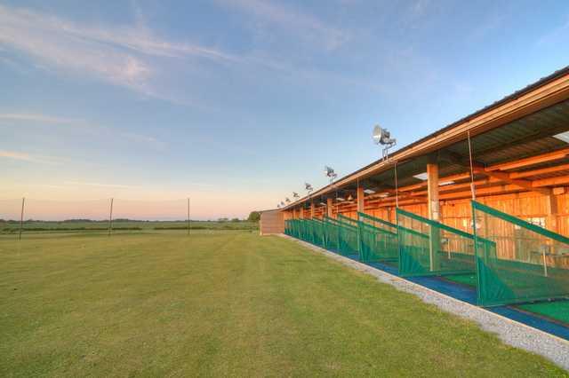 The driving range at the Burstwick Golf Club