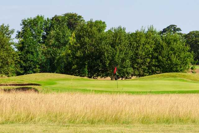 The 17th hole at the Burstwick Golf Course