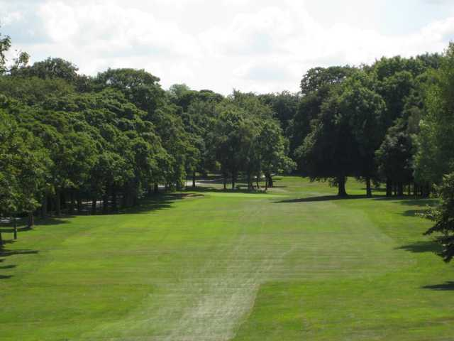 Scenic view of the tree lined 13th hole at Rotherham Golf Club