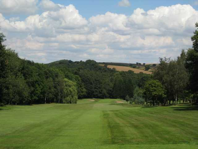 Scenic view down the fairway to the 1st hole at Rotherham Golf Club