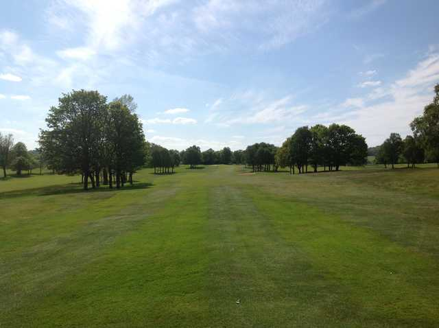 A view down the Pleasington Golf Club 1st fairway
