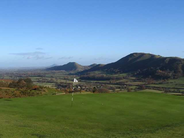 The elevated greens at Church Stretton provide some spectacular views of the surrounding area