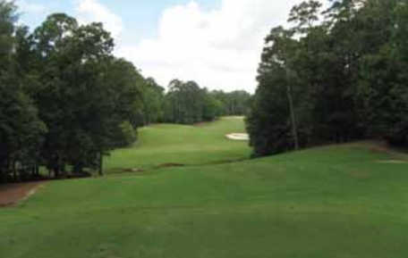 A view from a tee at The Azaleas from Dancing Rabbit Golf Club