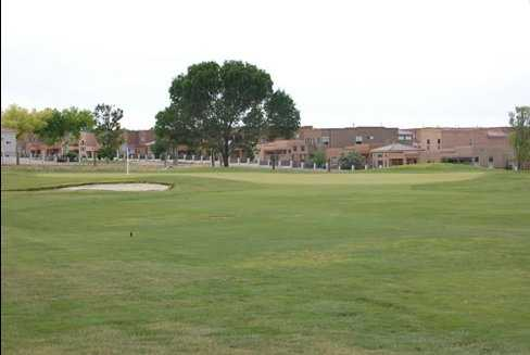 A view of the 5th hole at Chamisa Hills Country Club - Trevino Course