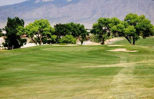 A view of the 1st green at Chamisa Hills Country Club -  Sarazen Course