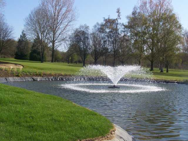 Be careful not to find the fountain when approaching the 9th green at Bishopswood Golf Club.