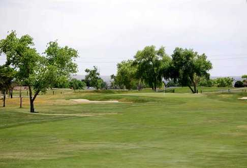 A view of green #1 at Chamisa Hills Country Club - Muirhead Course