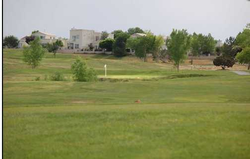 A view of the 7th green at Chamisa Hills Country Club - Trevino Course