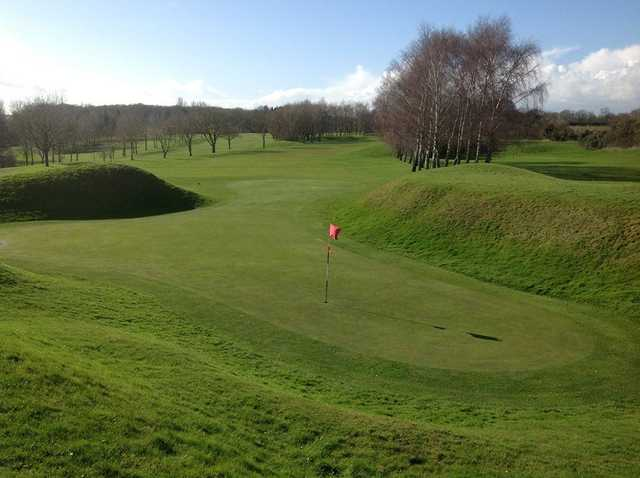 Tricky green to hit on the 18th at Oundle Golf Club