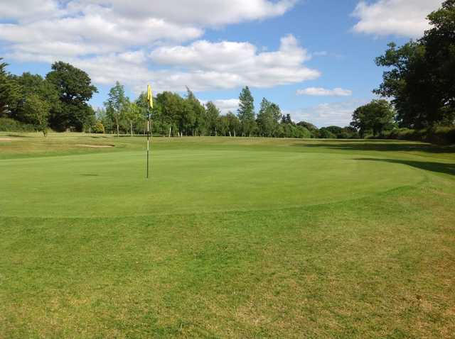 A close view of the 2nd green at Arscott