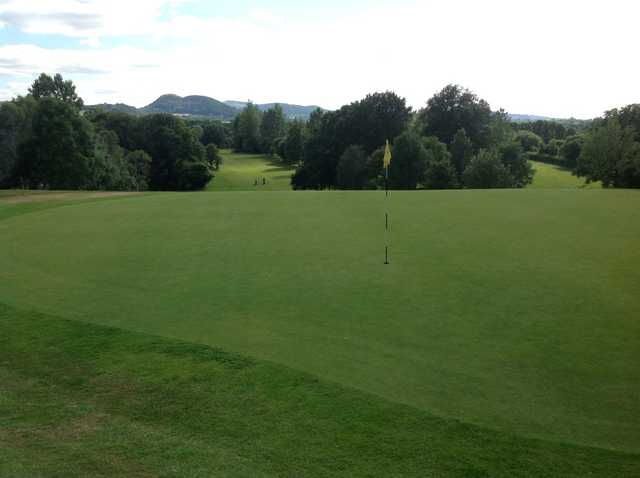 A view from the Arscott's 5th hole, overlooking mountains