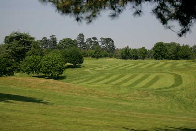 The 8th green on the Melbourne Golf Course at The Melbourne Golf Club at Brocket Hall