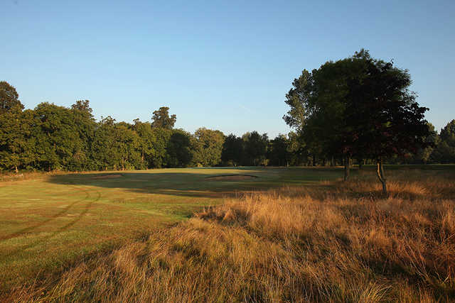 A well-bunkered fairway at Uxbridge Golf Club