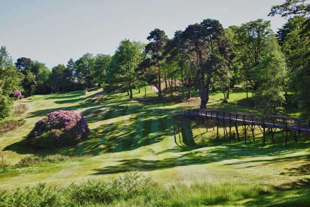 The 12th hole uphill at Addington Golf Club