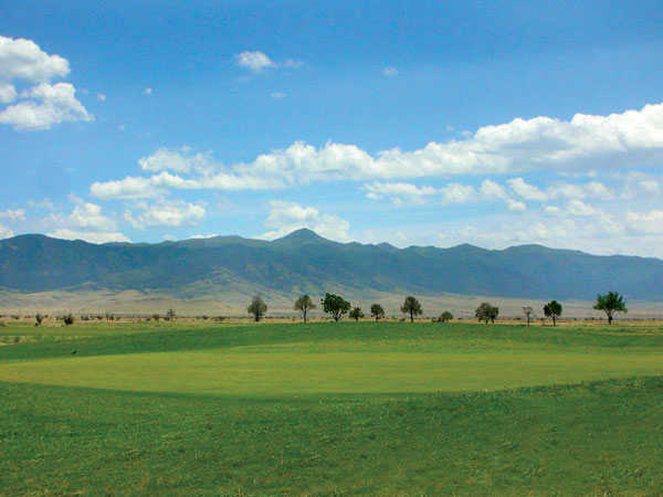 A view of a green from Valle Del Sol Golf Course