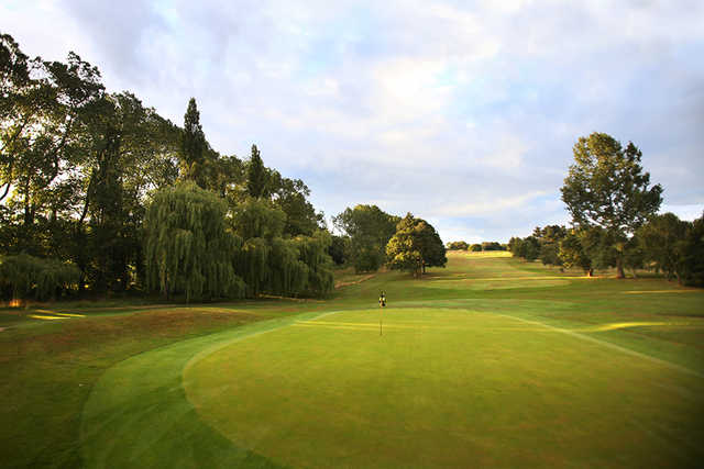 Behind the green at Haste Hill Golf Course