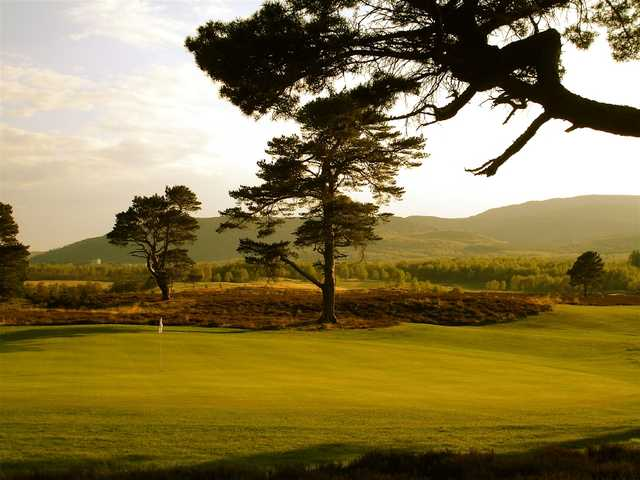 The Spey Valley golf course at sunset