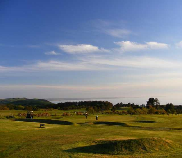 The 13th green on the Aberystwyth golf course
