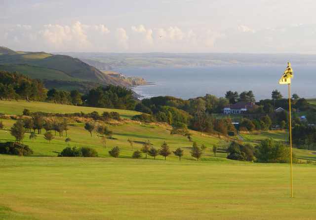 The spectacular views from the 6th green at Aberystwyth