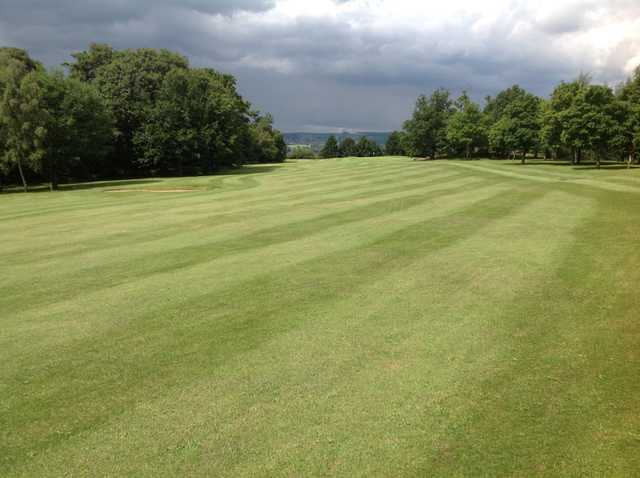 A scenic view of the 11th fairway at  Grange Park Golf Club