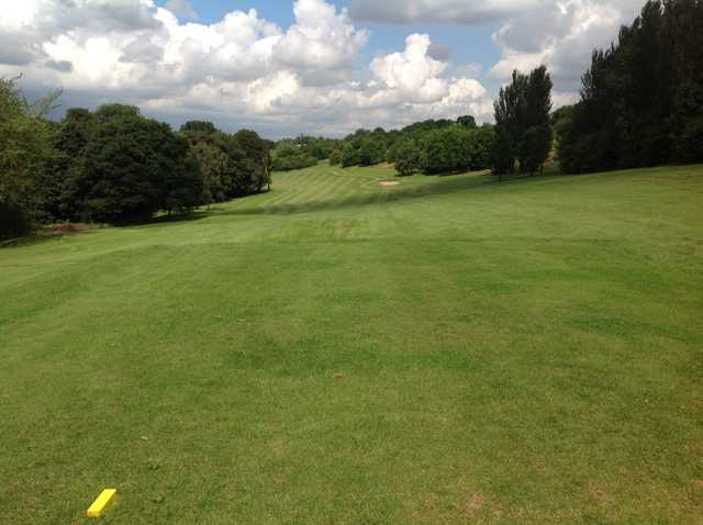 The view of the fairway from the 13th tee at Grange Park Golf Club