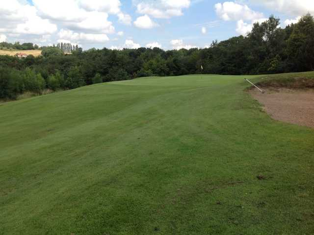 The 18th approach at Grange Park Golf Club