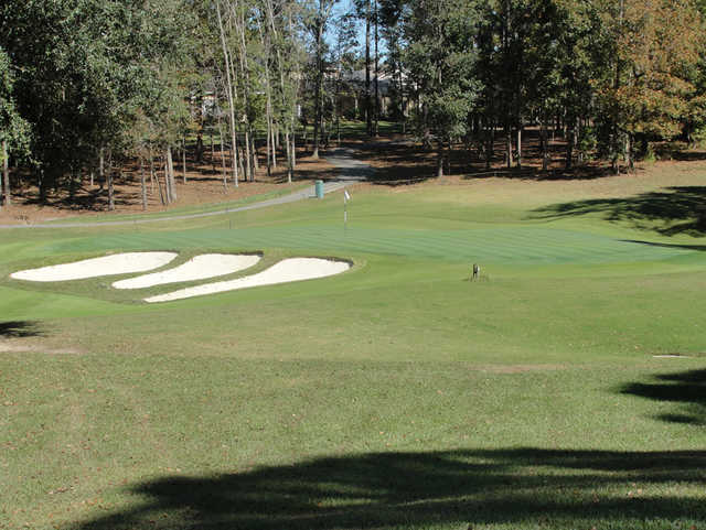 A view of hole #4 at Golden Eagle Country Club