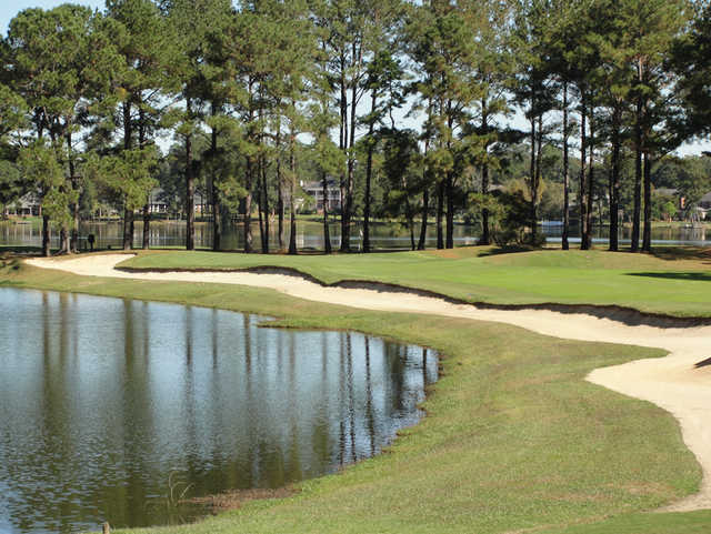 A view of the 11th green at Golden Eagle Country Club