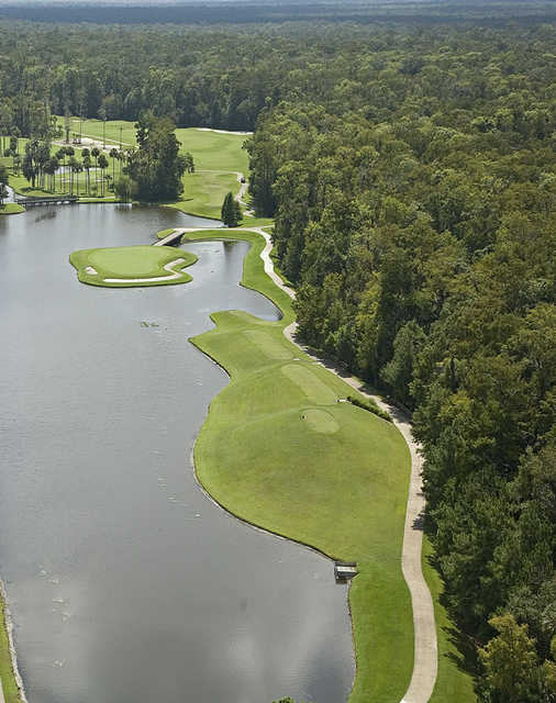Aerial view of the 4th hole at Alaqua Country Club