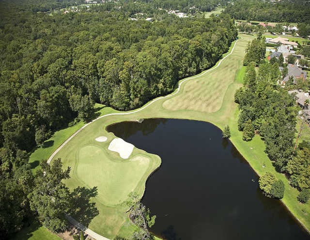 Aerial view of the 12th hole at Alaqua Country Club